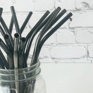 Black Reusable Straw Olsen + Olsen