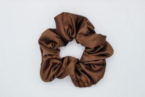 Brown Satin Scrunchie