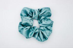 Light Turquoise Satin Scrunchie