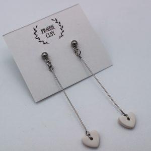 Mini Heart Drop Earrings