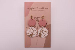 Shimmer Me Pink Earrings